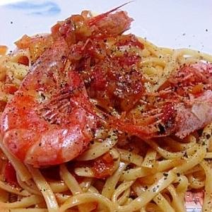 アルゼンチン赤エビのトマトソースリングイネ
