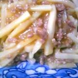 筍と挽肉のラー油炒め