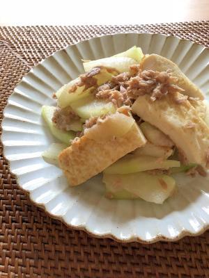 冬瓜と豆腐とツナのエスニック炒め