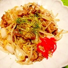 白菜漬けと豚肉☆モヤシ炒め