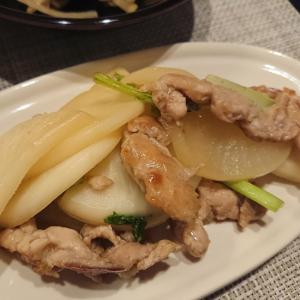 カブと豚肉の和風炒め