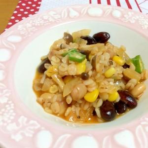 ビタバァレーと大豆のリゾット