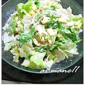 ご飯に合うサラダ!レタスと大根のツナマヨサラダ
