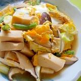 生姜風味☆高野豆腐と椎茸ネギの卵とじ