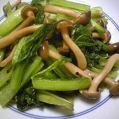 小松菜とぶなしめじの炒め煮