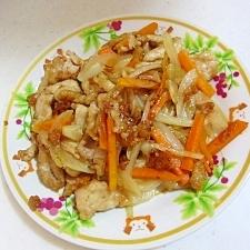 豚肉と野菜の青じそドレッシング炒め