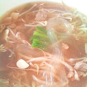 もやしで中華春雨スープ