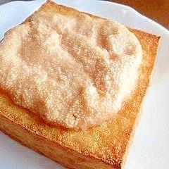 厚揚げの明太トースター焼き