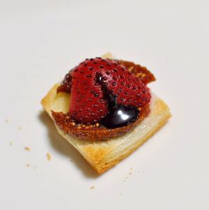 フィグ&苺&チョコソースdeおつまみパン