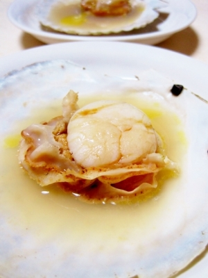 フライパンで簡単♪ホタテの殻焼き