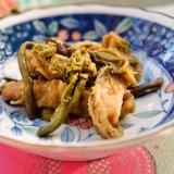 旬の味を愉しも♪ご飯がススムわらびと油揚げの炒め煮