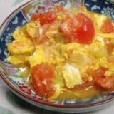 トマトが古くなったら、トマトと卵の中華炒め
