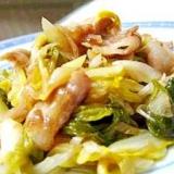 白菜のお漬物と豚バラの炒めもの
