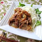 豚の薄切り肉で、時短&浸み旨生姜焼き