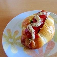 ウインナー入り♡マスタードサンドイッチ
