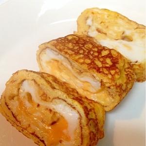 【糖質制限】チェダーチーズがとろ~り♪厚焼き玉子♪