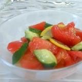 胡瓜&トマト簡単サラダ