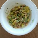 離乳食☆中期☆ さつまいもとブロッコリーの納豆和え