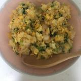 白菜キムチで✨小かぶの葉っぱと葱のキムチ炒飯