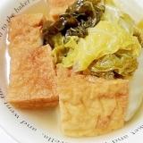 茹で豚の茹で汁で 白菜と厚揚げのお汁が美味しい煮物