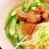 【簡単】梅肉入り香ばしイワシ節スープのラーメン