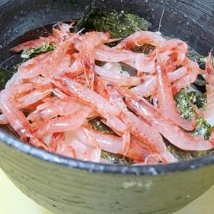 晩酌の〆☆ 手軽に「桜えびのっけ寿司」