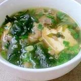 牛肉のにんにく味噌スープ