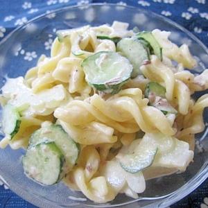 白ゴーヤとサバ缶のマカロニサラダ