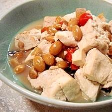 五目豆と豆腐のさっと煮♪