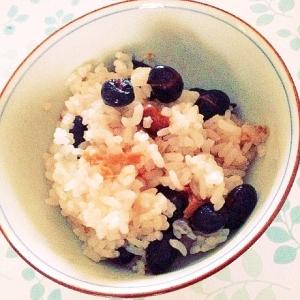 さっぱり梅と黒豆ご飯(ヘルシー)