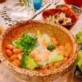 糖質制限☆大豆とブロッコリーのチーズ焼き