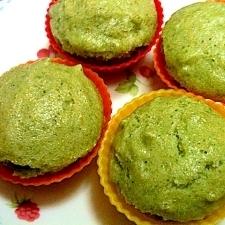 塩麹入り☆米粉と青菜の蒸しパン