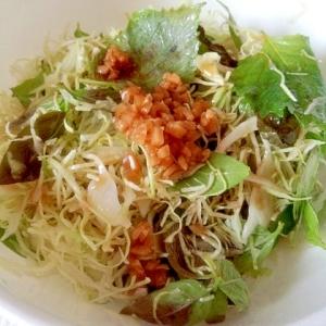 刻み生姜の野菜サラダ