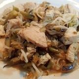 ウエイユーで ❤鶏肉と茄子ともやしのチャンプルー❤