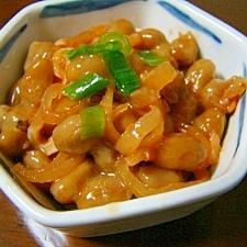 こりこりふぐ皮キムチ納豆