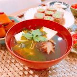 豆腐、椎茸、三つ葉のお吸い物☆