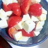 切って切って混ぜる★フルーツトマトの簡単カプレーゼ