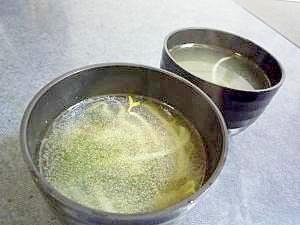 わかめともやしの中華風スープ