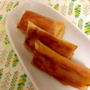 ベーコンとチーズと魚肉ソーセージの春巻き☆