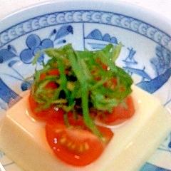 トマトのせ香味たまご豆腐