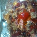 ワッフル(トマトジュース&サラミ)鰯+かつお節