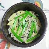 笹の子とひじきの炊き込みご飯