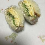 シンプルに卵サンドイッチ