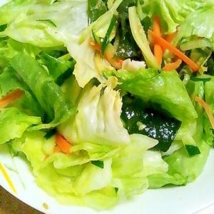 ★簡単★ゴマ香るレタスとワカメのサラダ★