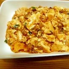 レンジで作る麻婆豆腐