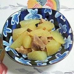 豚角切りと大根の炒め煮~♡♥
