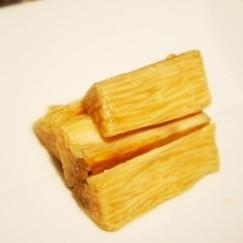 ポリ袋で簡単、長芋のレモン醤油漬け