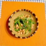 小松菜と大豆の胡麻おひたし♪