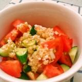 トマトとキュウリのネギたれサラダ♪サッパリ美味い