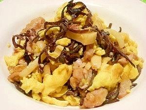 ガッツリご飯シリーズ☆豚肉と卵、木耳の中華炒め